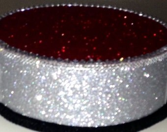 Silver Christmas / Red Cake Pop Stand / Candy Buffet Centerpiece / Cupcake Stand