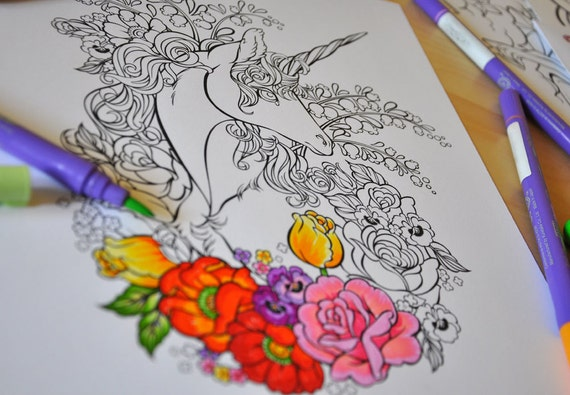 Back in stock! Unicorn coloring collection. Vol.1