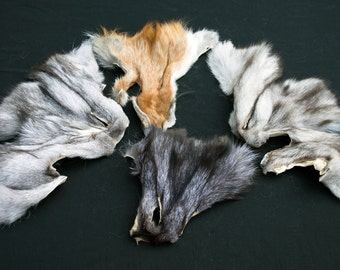 Arctic Store® FOX Faces Fur Scraps Totem Fur Supplies FF4 Arktika Russia