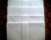 Ten  7 1/2  X 5 White Envelopes Card Making Invitations Letters Party