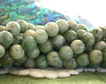 8mm Tree Agate Beads, Agate Beads, Semi Precious Stone Beads, Gemstone Beads  SP-249