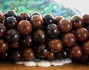 8mm Mahogany Jasper Beads, Jasper Beads, Semi Precious Stone Beads, Gemstone Beads  SP-277