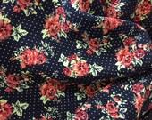 Rayon Viscose - Navy Floral