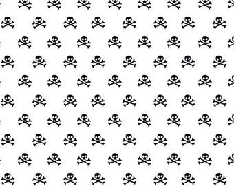 Riley Blake - Military Max - Skull - White