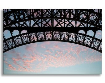 Eiffel Tower Photograph on Canvas - Paris Photo Gallery Wrapped Canvas, French Travel Photograph, Large Wall Art