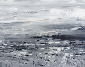 Abstract Landscape 'From Out of Nowhere'- acrylic painting on canvas - size 30cm x 80cm