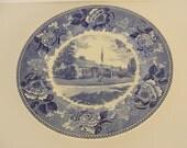 Vintage Wedgwood Clara Barton Birthplace Blue Plate Universalist Women