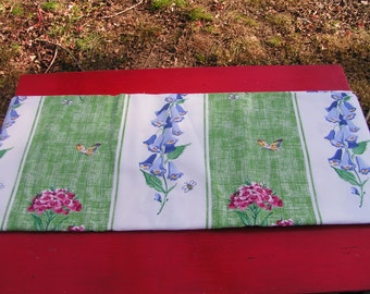 over 2 1/2 yards 60s Waverly Vintage Fabric Misty Meadow 100% Cotton Screen Printed Scotchguard