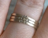 three brass super skinny ring - personalized ring - posey ring - skinny brass ring - skinny personalized ring - purity ring - posy ring