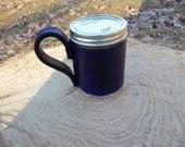 Mason Jar Leather Mug