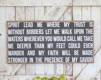 Spirit Lead Me - Wooden Sign