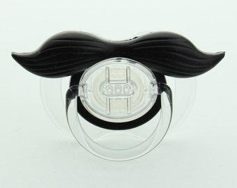 Mustache Pacifier Gentleman  Mustache Pacifier Black Mustache