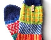 Socks, Hand Knit Unique Socks, Men Socks, Women Sox, Bohemian Sox,Teen Socks, Hipster Sox, Socks,  Graphic Design, Boho Socks, Made to Order