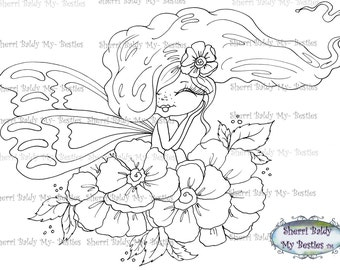 INSTANT DOWNLOAD Digital Digi Stamps Big Eye Big Head Dolls Digi Img438 Besties By Sherri Baldy
