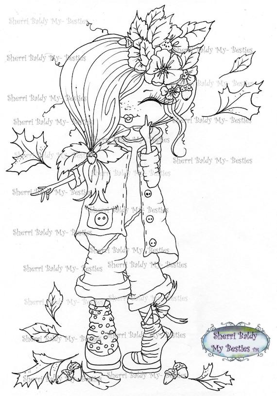 INSTANT DOWNLOAD Digi Stamps Big Eye Big Head Dolls Digi Bestie Img4262 By Sherri Baldy