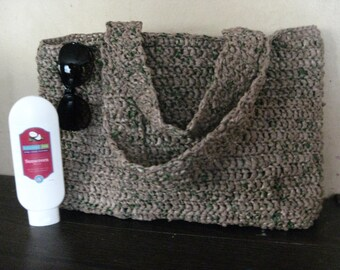 "Upcycled ""Plarn"" Crocheted Shoulder Bag"