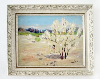 White Tree  Landscape Painting