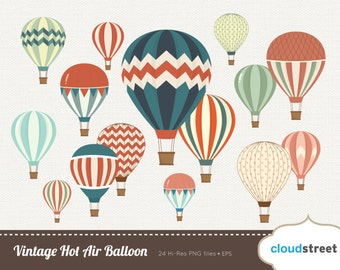 20% OFF free Vintage Hot Air Balloon clipart for personal and commercial use ( vintage hot air balloons clip art ) vector graphics