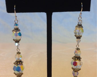 925 Vintage Inspired Swarovski Crystal Earrings