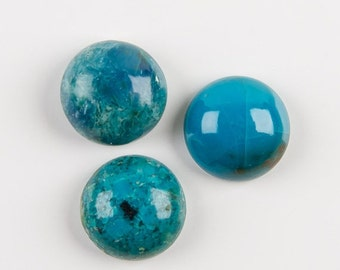 Natural Chrysocolla Round Cabochon Gemstone Size 10 mm,12 mm