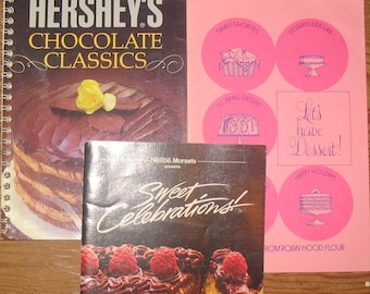 5 CookBooks Cookies Nestle Bake Off Eagle Brand Hershey Robin Hood Soft Covers Cook Books