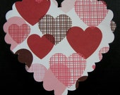 12 Heart Scrapbook Embellishment, Heart Card Topper, Heart Die cuts, tags/embellishment, Scrapbook, Cards