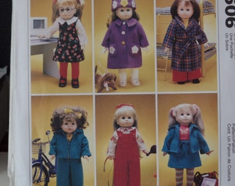 McCalls 2506--   18 Inch Doll clothes
