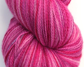 "Kettle Dyed Lace Yarn, Merino, Silk, and Stellina Lace Weight, in ""Love Me Do"""