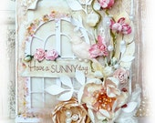OOAK Handmade Shabby Chic BIRTHDAY Any Occasion Card by Natalie Z.