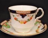 Collingwoods China Imari Inspired Teacup and Saucer Set, c. 1937-1957