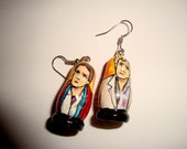 Marty and Doc (Back to the Future) Doll Earrings