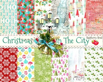 Christmas In The City Patterned Paper Set