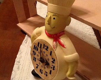 1960 Hanging Chef Clock