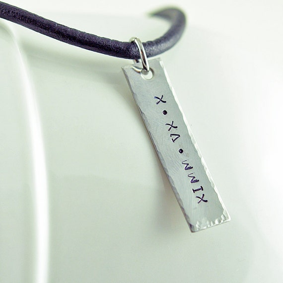 personalized mens tag necklace mens jewelry by