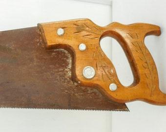 "26"" Crosscut Handsaw Disston 10 tpi Straight Sharp"