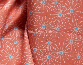 Figures - Daisy in Salmon - 1552 17 - Brigitte Heitland for Zen Chic - Moda Fabrics - 1/2 Yard