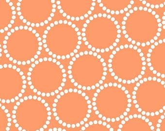 Mini Pearl Bracelets - Apricot - A-7829-O - Lizzy House for Andover Fabrics - 1/2 Yard
