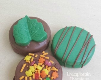 Thanksgiving/ Fall Chocolate Covered Oreos (12)