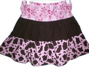 Western Skirt, Girl Skirt, Toddler Skirt, Western Toddler Skirt, Pink Western Skirt, Twirl Skirt, Cowgirl Skirt, Little Girl Skirt, Handmade