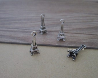 20pcs Antique Silver Eiffel Tower pendant charm 6mmx15mm