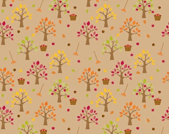Harvest Orchard fabric in Brown