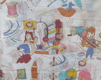 Chip And Dale Rescue Rangers Sheet 90 S Disney Caroon