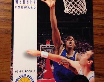 Chris Webber 1994 ROOKIE Golden State Warriors Basketball Card Vintage NICE
