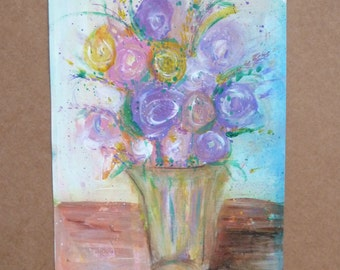 My First Bouquet - Original Abstract Painting