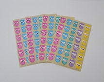Owl Stickers Envelope Seals Cute Stickers 120 Adhesive Stickers