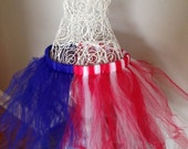 Tutu for Dance or Dress Up, for Baby, Toddler, Girls, Tween, Teen, Women and Runners! - Red, White, and Blue!  American Flag Tutu