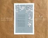 Olive Branch Ketubah heirloom papercut