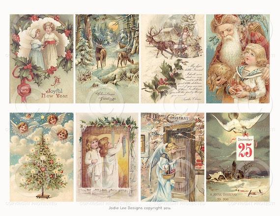 printable vintage victorian christmas cards a digital. Black Bedroom Furniture Sets. Home Design Ideas