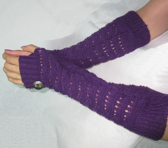 Knitting Patterns For Beginners Arm Warmers : Knitted arm warmers Arm Warmers knit gloves with