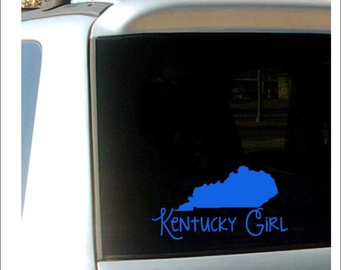 Kentucky Girl Decal Car Decal Kentucky Girl State Pride Car Decal Vinyl Decal Car Window Decal Kentucky Girl Vinyl Decal Everything Else